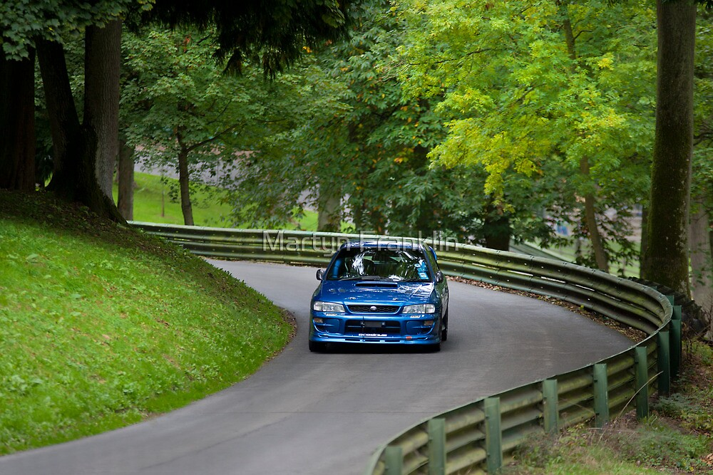 Subaru Impreza hill climb racing by Martyn Franklin