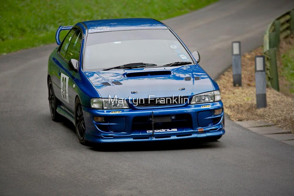 Blue Subaru Impreza STi by Martyn Franklin