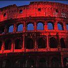 ROME - Colosseum in red - October 10th 2010 - # 2 by Daniela Cifarelli