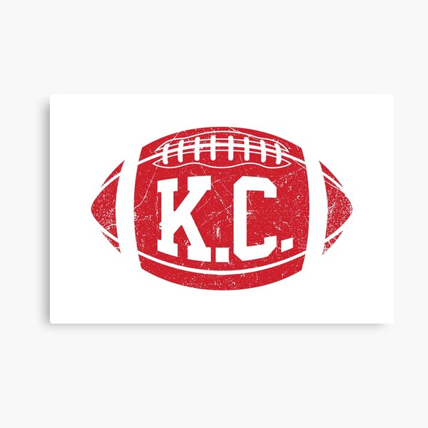 KC Retro Football - White Canvas Print