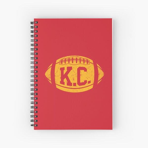 KC Retro Football - Red Spiral Notebook