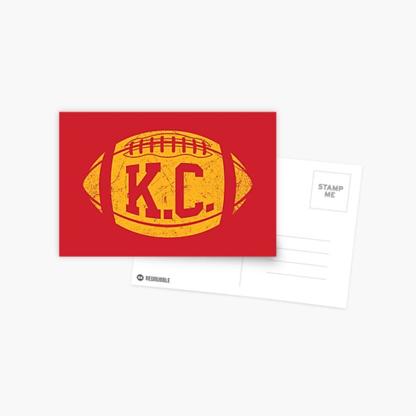 KC Retro Football - Red Postcard