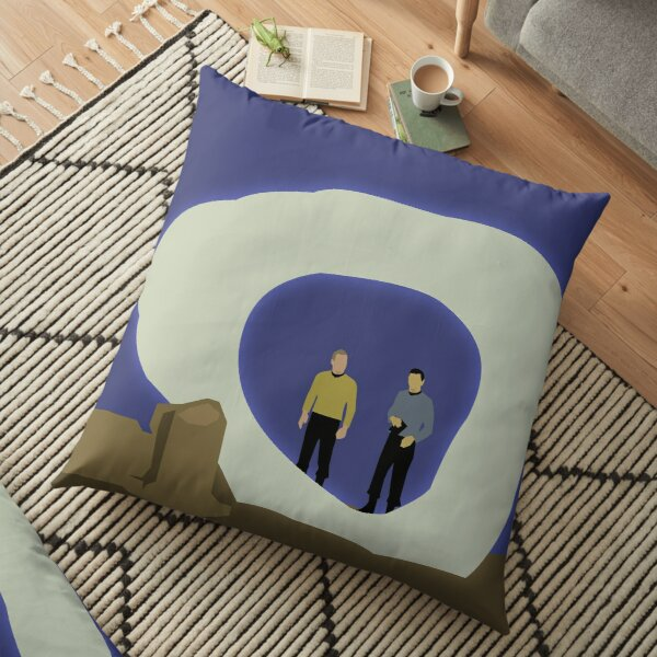 The City on the Edge of Forever Floor Pillow