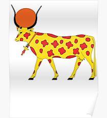Hathor Cow [FRESH Colors] | Egyptian Gods, Goddesses, and Deities Poster