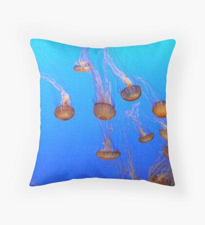 Jellies in Cascade Throw Pillow