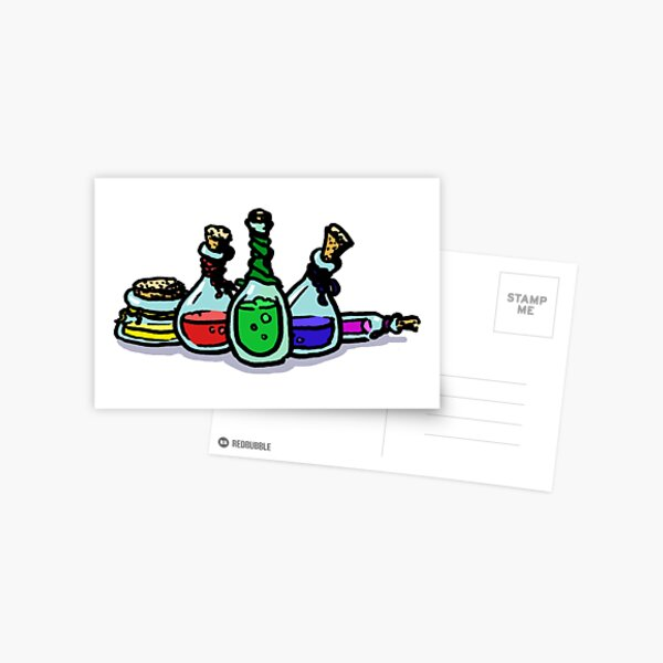 Potion Bottle Collection Postcard