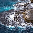 Waves on Rock Platform, Eaglehawk Neck, Tasmania by Chris Cobern