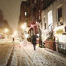 Snowy Night - Lower East Side - New York City by Vivienne Gucwa
