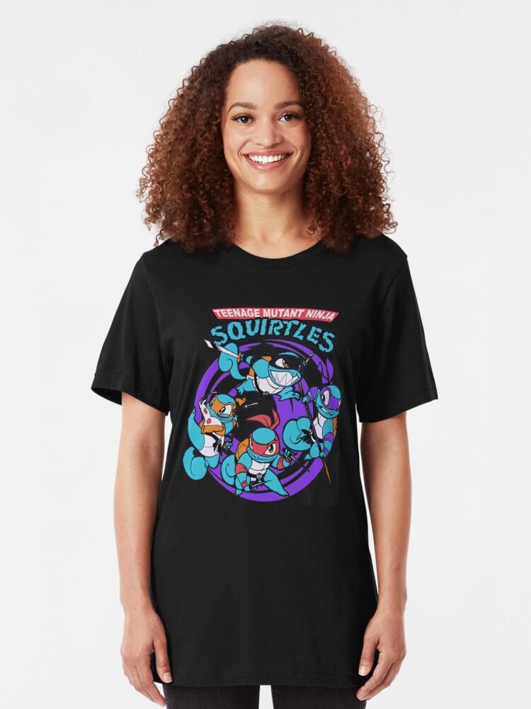 Ninja  Teenage Mutant Ninja Squirtles Men/'s Black T shirt