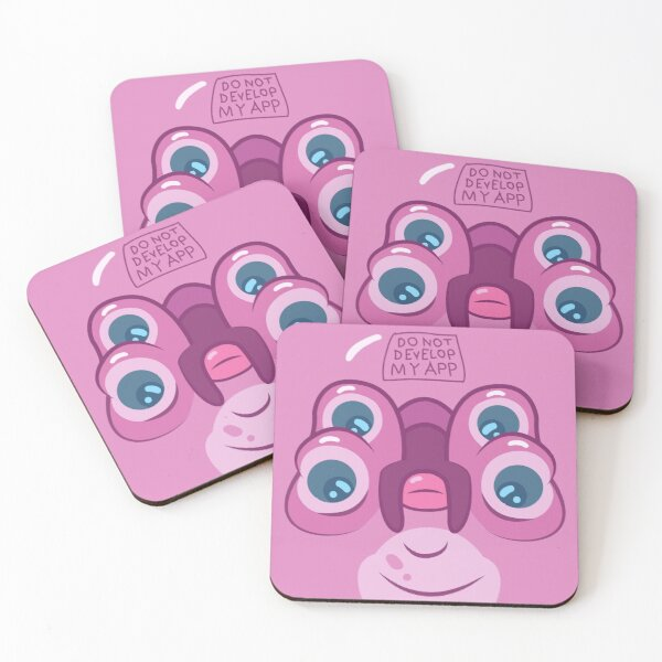 Rick and Morty - Glootie Face Coasters (Set of 4)