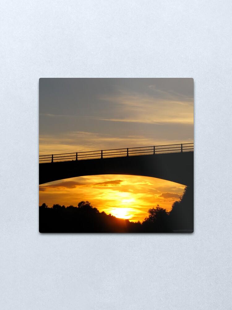 Alternate view of Sunset Bridge Metal Print