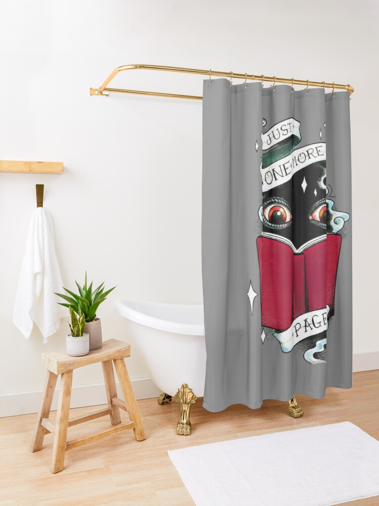 Alternate view of One More Page Shower Curtain