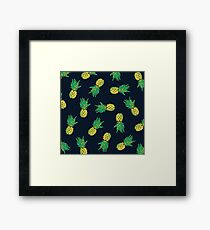 Zombie Pineapple Framed Print