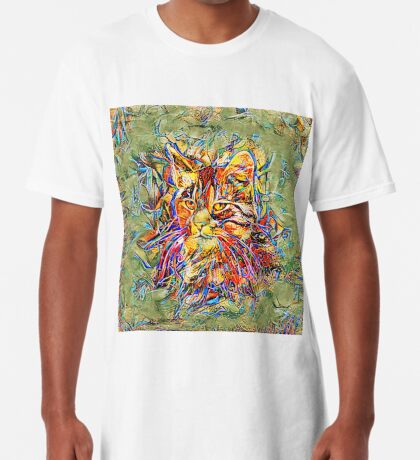 Ninja Cat. Deep Neural Networks #Art Long T-Shirt