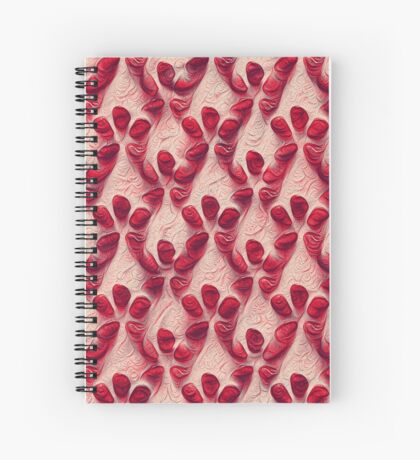 Pomegranate seeds #DeepDream Spiral Notebook