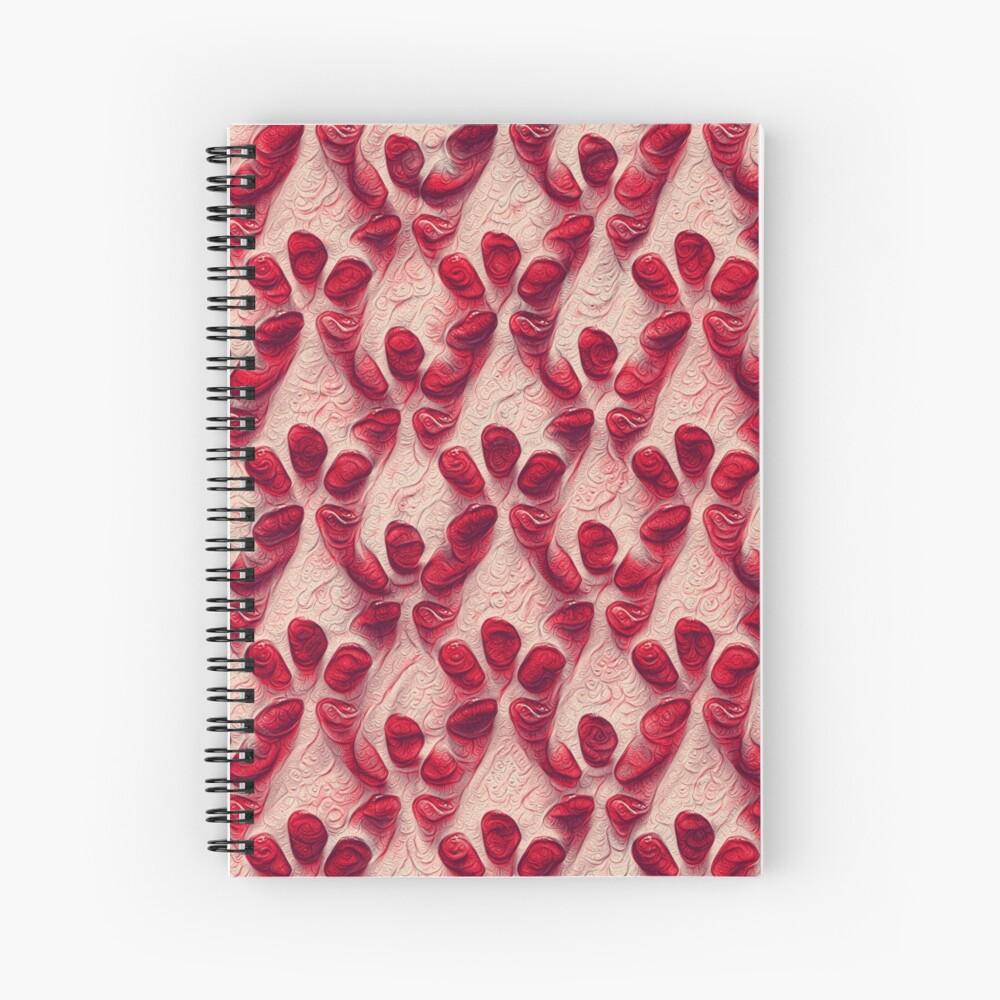 Pomegranate seeds #DeepDream Spiral Notebook