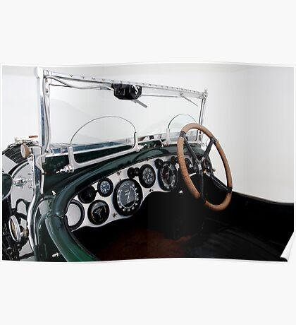 Classic Bentley dash board Poster