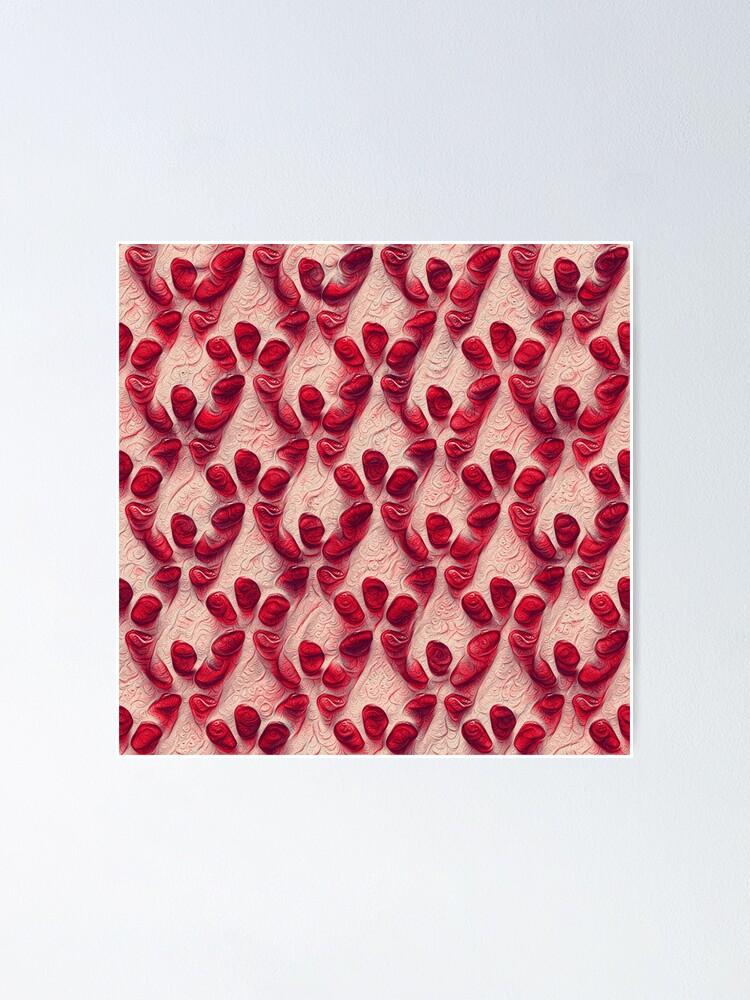 Alternate view of Pomegranate seeds #DeepDream Poster