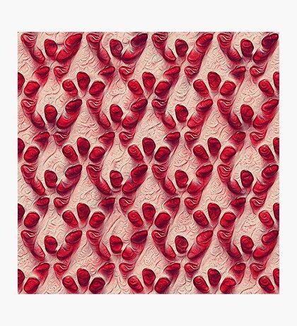 Pomegranate seeds #DeepDream Photographic Print