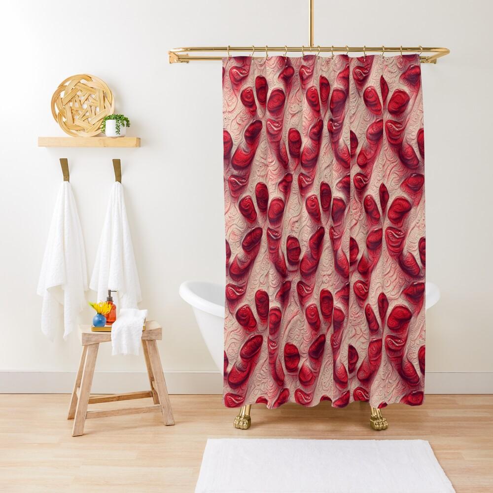 Pomegranate seeds #DeepDream Shower Curtain