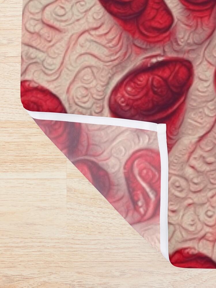 Alternate view of Pomegranate seeds #DeepDream Shower Curtain