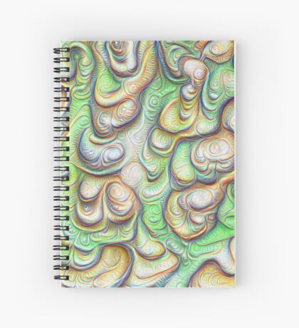 Frozen liquid green stones #DeepDream #Art Spiral Notebook