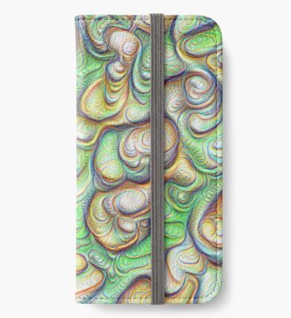 Frozen liquid green stones #DeepDream #Art iPhone Wallet