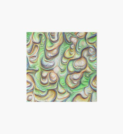 Frozen liquid green stones #DeepDream #Art Art Board Print