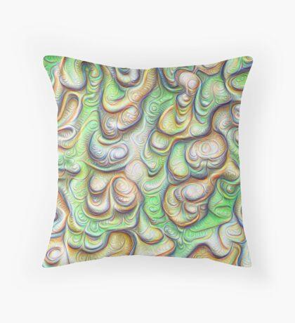 Frozen liquid green stones #DeepDream #Art Floor Pillow
