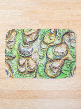 Frozen liquid green stones #DeepDream #Art Bath Mat
