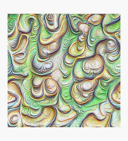 Frozen liquid green stones #DeepDream #Art Photographic Print
