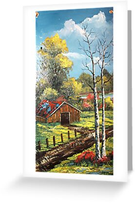 Fall and The Barn on Slate by teresa731