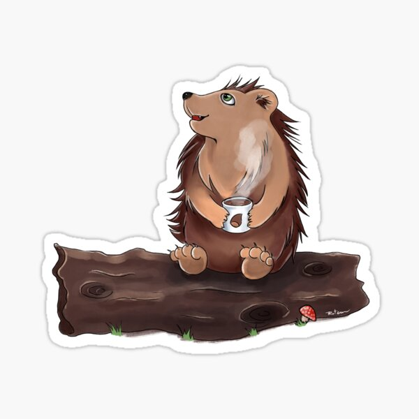 Morning Hedgehog Sticker