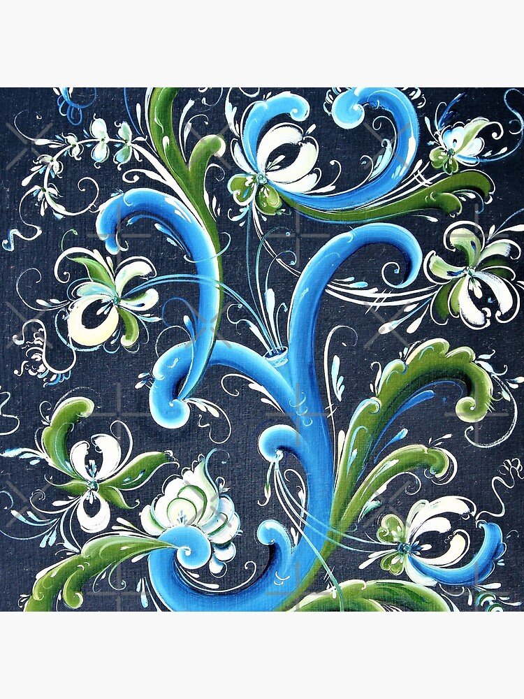 Traditional Scandinavian Rosemaling Art from Norway by Forestwood