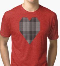 02882 Erskine Grey Tartan Tri-blend T-Shirt
