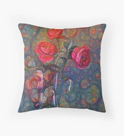 Roses #DeepDreamed Floor Pillow