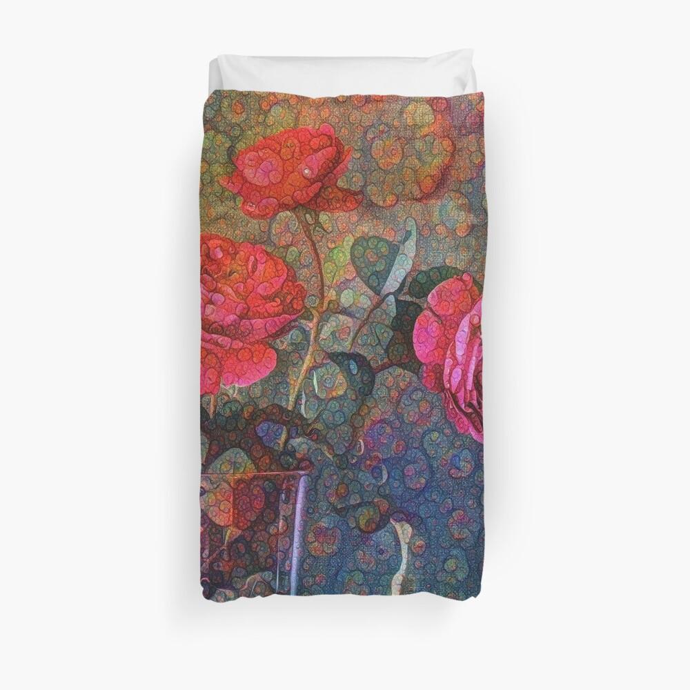 Roses #DeepDreamed Duvet Cover