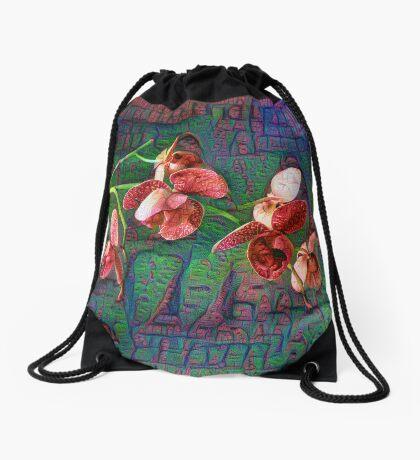 Phalaenopsis A #DeepDream Drawstring Bag