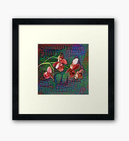 Phalaenopsis A #DeepDream Framed Print