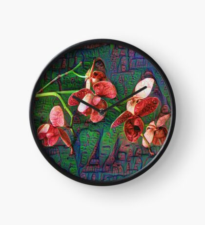 Phalaenopsis A #DeepDream Clock