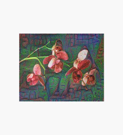 Phalaenopsis A #DeepDream Art Board Print