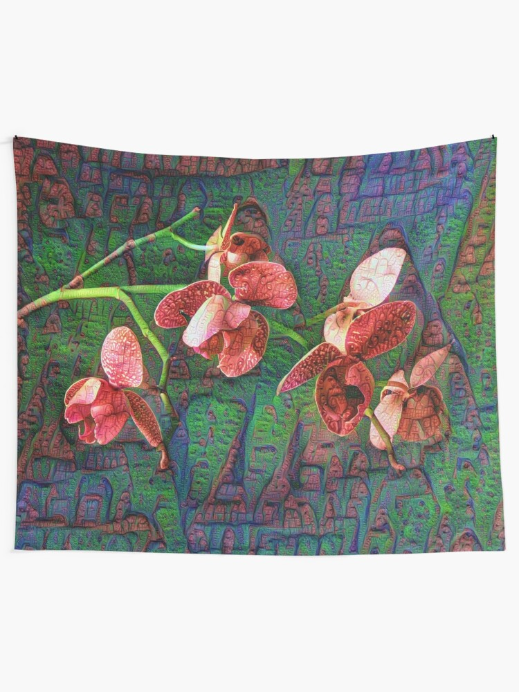 Alternate view of Phalaenopsis A #DeepDream Tapestry