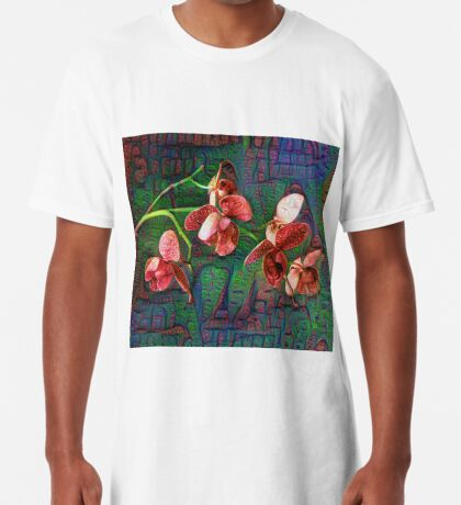 Phalaenopsis A #DeepDream Long T-Shirt