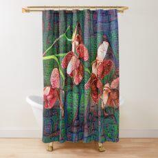 Phalaenopsis A #DeepDream Shower Curtain