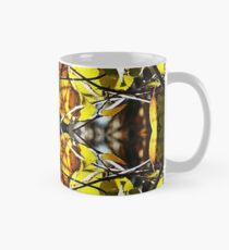 Autumn Stained Glass Leaves Classic Mug