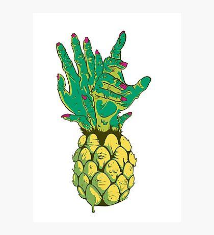 Zombie Pineapple #2 Photographic Print