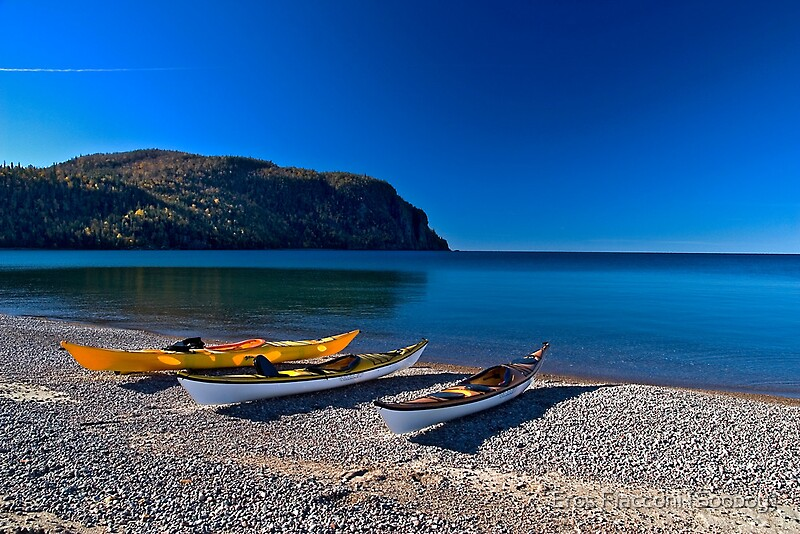 kayaking old woman bay lake superior ontario canada by. Black Bedroom Furniture Sets. Home Design Ideas