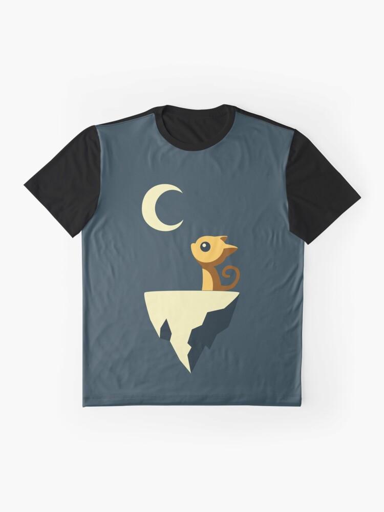 Alternative Ansicht von Mond Katze Grafik T-Shirt