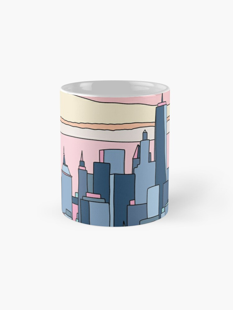 Alternate view of City sunset by Elebea Mug