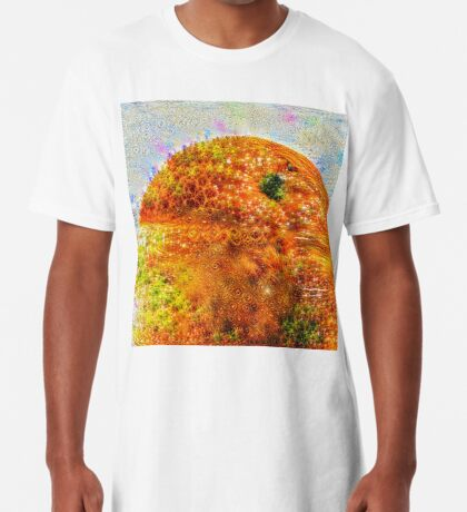 #DeepDreamed Frozen Orange Long T-Shirt